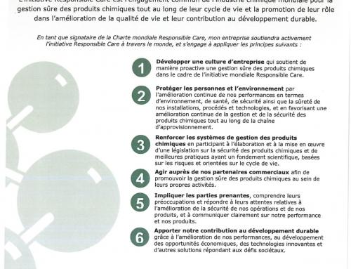 Laboratoires Nao, signataire de la charte mondiale Responsible Care